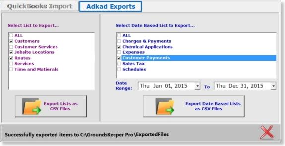Landscape Maintenance Software Export Client Data