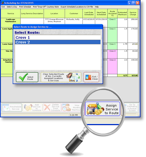 Lawn Care Scheduling and Routing Software
