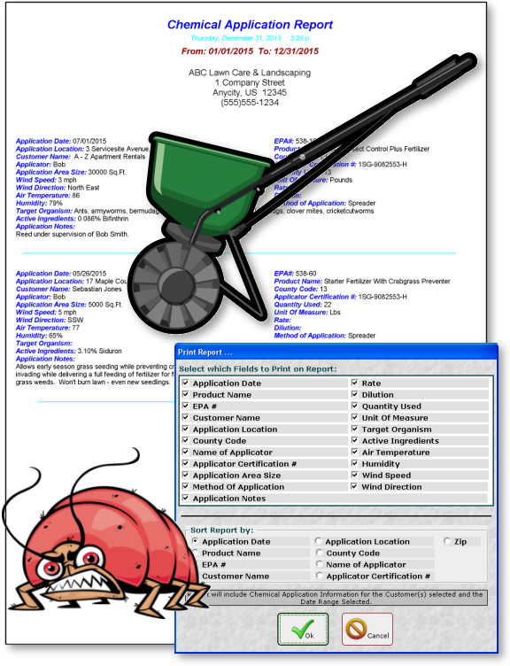 Chemical Application Reporting Software