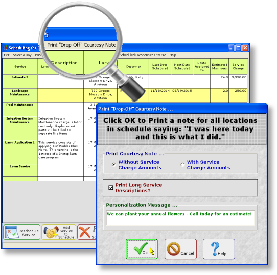 lawn mowing scheduling software