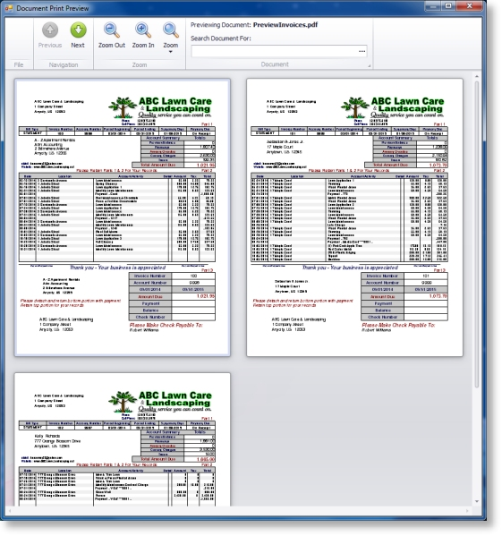 Lawn Invoicing Billing Software