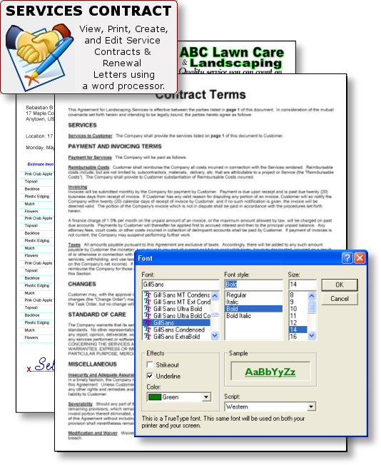 Lawn Care Maintenance Contract Form