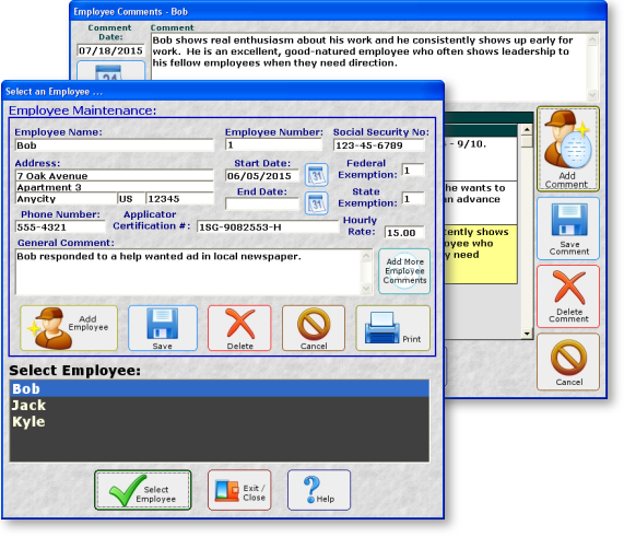 Lawn Business Software Payroll
