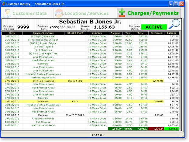 Lawn Care Client Payments