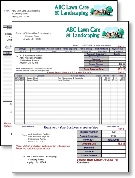 Landscaping Business Software Invoicing