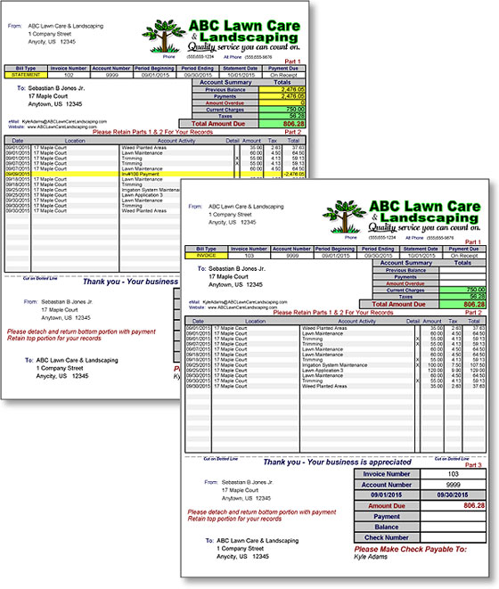 Lawn Maintenance Business Software