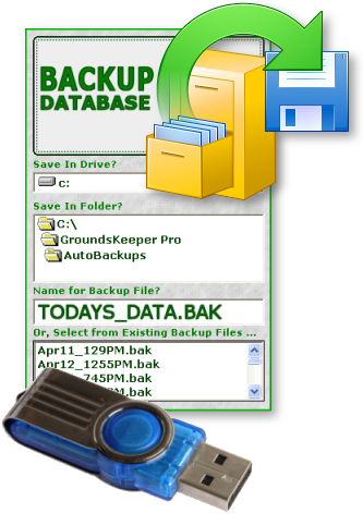 Backup Lawn Business Data