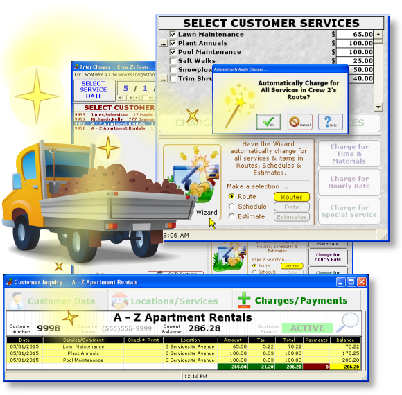 Lawn Landscaping Routing Software