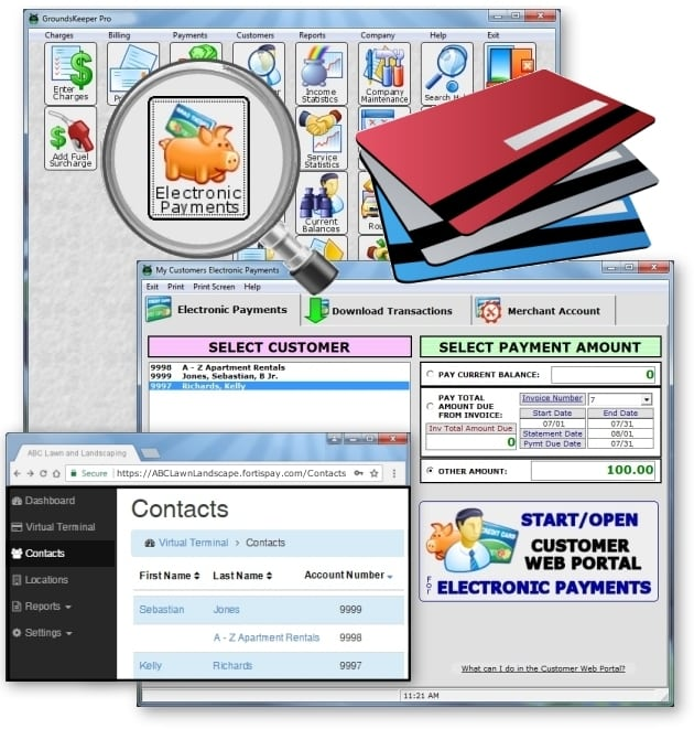 Lawn Software Online Credit Card Payments