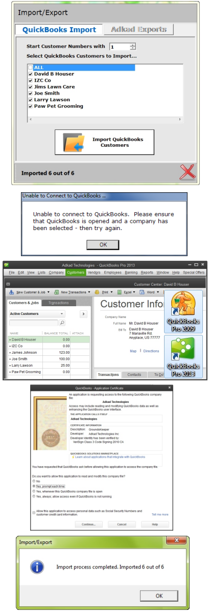 QUICKBOOKS IMPORT - Lawn Care Business Software