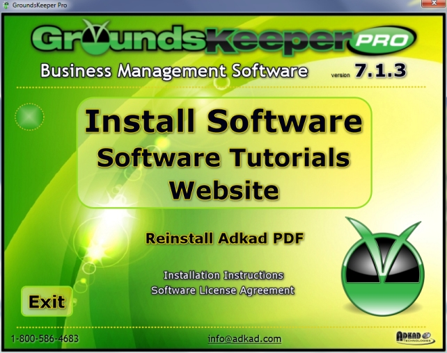 GroundsKeeper Pro Software CD Install Program