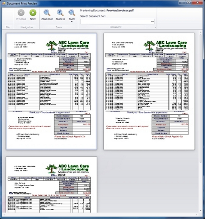 GroundsKeeper Lawn Care Software for Easy Invoice Billing